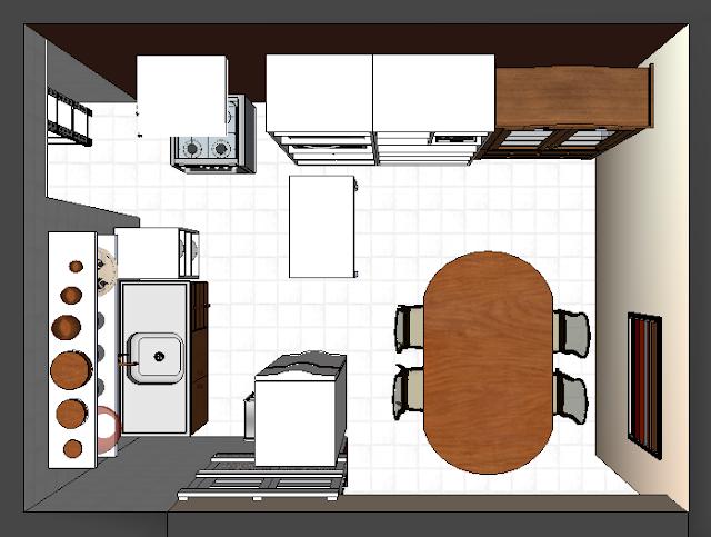 Projeto de Interiores da minha nova cozinha