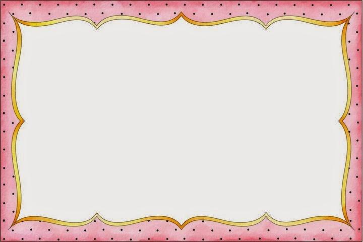 Divertidos Lunares: Marcos, Bordes y Etiquetas para Imprimir Gratis.