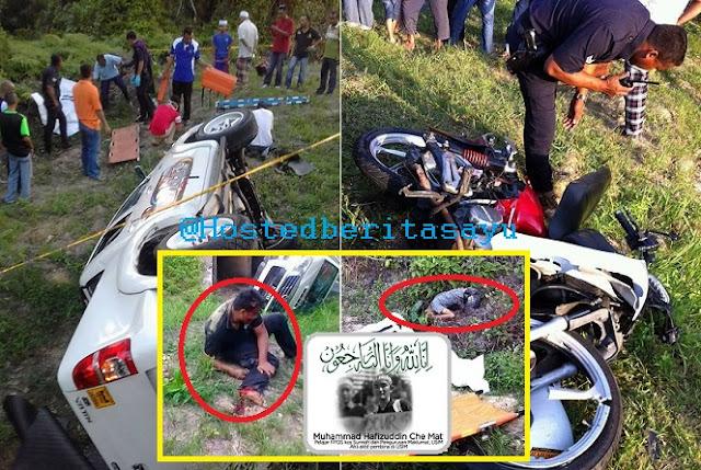 SAYU !! Adik maut 9 jam selepas abang .. Hafiz pelajar USIM dan adik nya maut dirempuh pacuan 4 roda (10 Gambar)