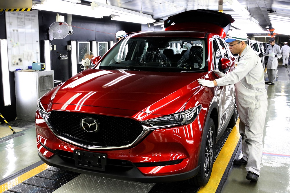 Mazda starts CX-5 production at its Hofu plant