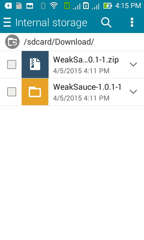 Extract Weak Sauce Zip File