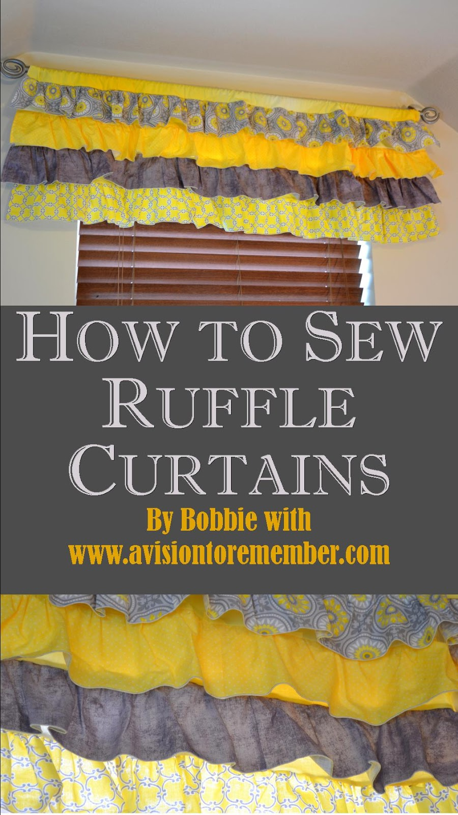 How to Sew Ruffle Valances