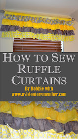 How to Sew Ruffle Valances Tutorial