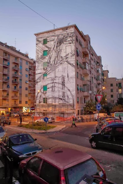 Crowd-Funded Street Art Mural By Sten and Lex on the streets of Rome, Italy. 2