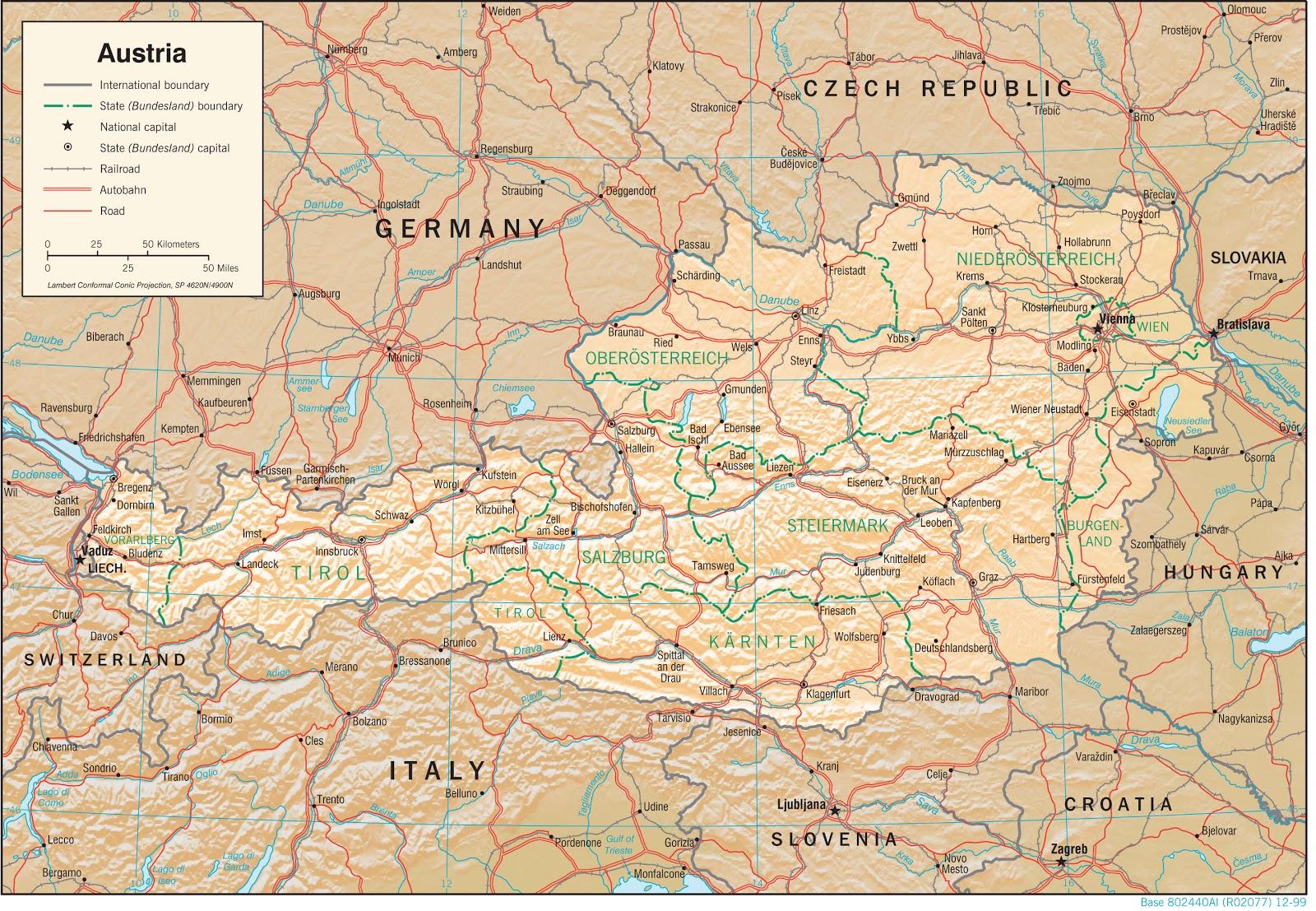 Áustria | Mapas Geográficos da Áustria