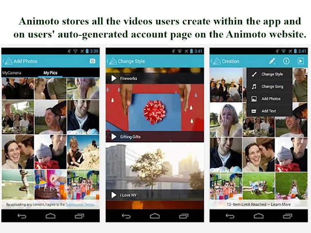store you video slideshows on animoto video maker