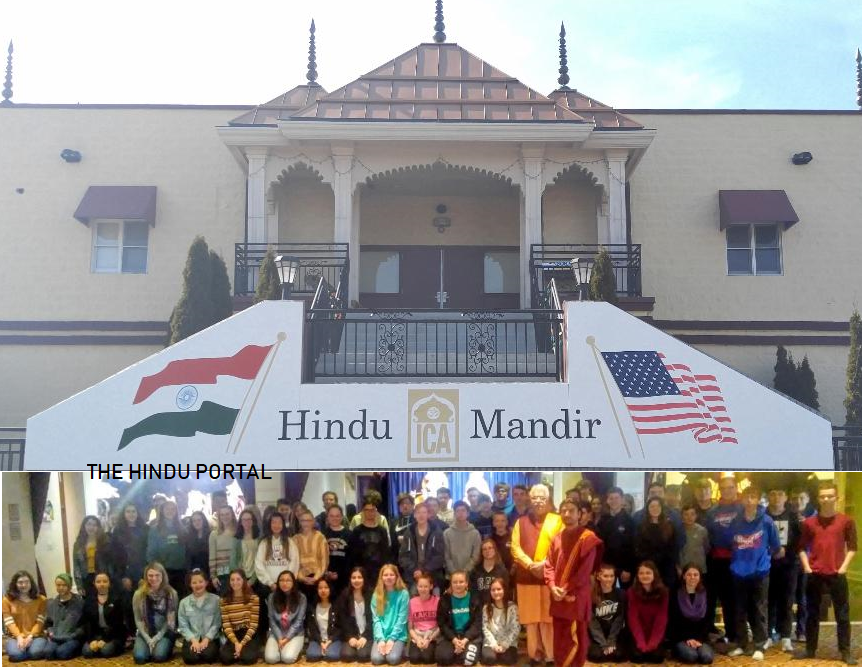 Chicago Lake High School Students visit temple to learn about Hinduism
