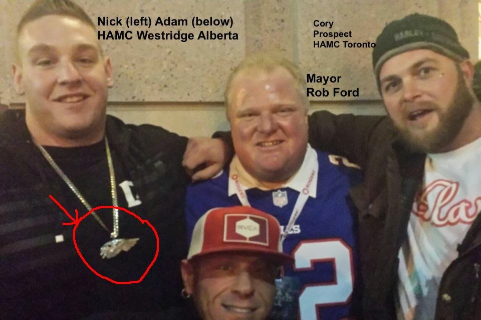 Gangsters Out Blog Rob Ford Poses With Hells Angels