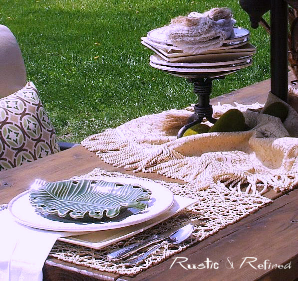 outdoor rustic dining