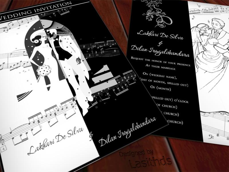 A Wedding Invitation Card