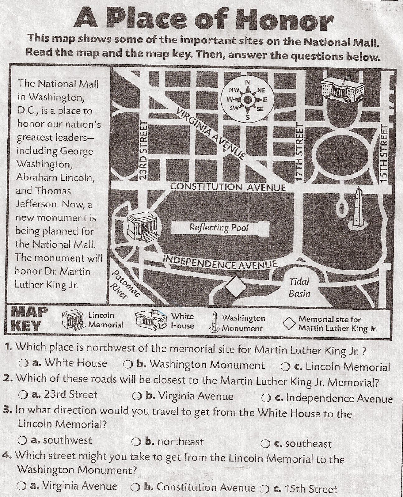 Martin Luther King Worksheet Elementary
