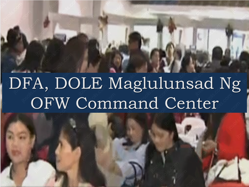 Due to the growing demands to improve government's respond to the needs of the Overseas Filipino Workers (OFW) abroad, the Department of Foreign Affairs (DFA) and Department of Labor and Employment (DOLE) is set to establish a command center that will render assistance to the OFWs in need.    Foreign Affairs Secretary Alan Peter Cayetano said they will also increase the frequencies of their meeting with DOLE and its attached agencies, the Philippine Overseas Employment Administration and Overseas Workers Welfare Administration.  These reforms include the use of the legal assistance fund to hire lawyers to represent OFWs whose employees had them incarcerated.  Sponsored Links  Philippine embassies around the world were also tasked to keep their records of Philippine nationals updated for better response in case of emergencies.  Cayetano added that they are working on foreign relations and human resource with various government agencies to make way for improved employment opportunities in the Philippines and reduce the number of Filipinos forced to seek employment abroad{OR   Source: GMA       Advertisement  Read more:  Did You Apply for OFW ID and Did You Receive This Email? Jobs Abroad Bound For Korea For As Much As P60k Salary  CLICK TO SUBSCRIBE TO OUR YOUTUBE CHANNEL for MORE VIDEOS ABOUT SMALL HOUSE AND HOUSE DESIGN and OFW INFOs  ©2017 THOUGHTSKOTO  www.jbsolis.com   SEARCH JBSOLIS, TYPE KEYWORDS and TITLE OF ARTICLE at the box below