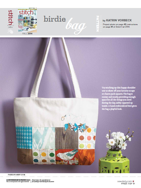 Birdie Bag im Stitch Magazine @frauvau.blogspot.de
