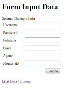 Program CRUD Sederhana PHP