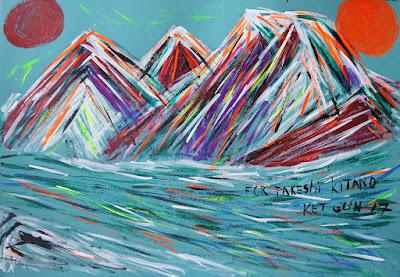 Арт аукцион 21 картина посвящение Takeshi Kitano
