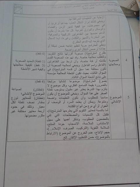 تصحيح امتحان اللغة العربية لمباراة التعاقد 2016