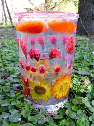 Flores encapsuladas con resina cristal