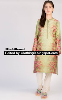 Gul Ahmed Digital Kurties 2015