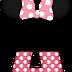 Abecedario a lo Minnie en Rosa con Lunares Blancos. Minnie Style in Pink Alphabet.