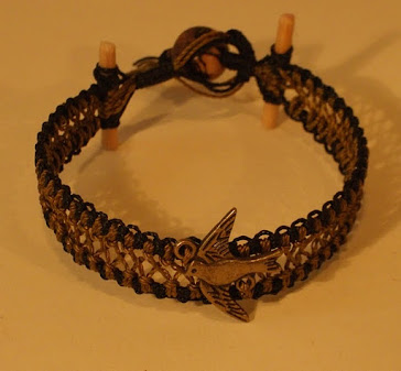Dove with wood and Acai seed clap, bracelet