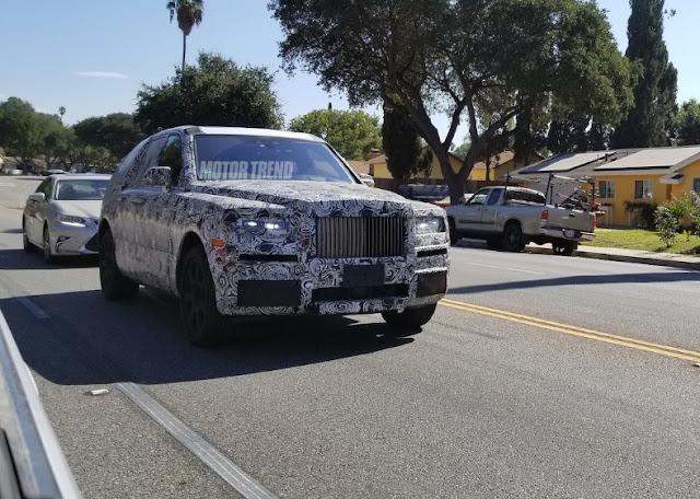 Шпионские фото Rolls-Royce Cullinan