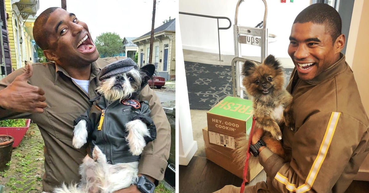This UPS Driver Takes The Most Cheerful Photos With Dogs In The Neighbourhood