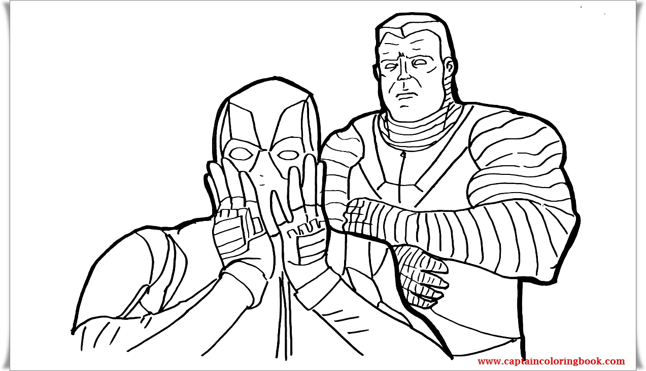 Deadpool 2 Coloring Page L Coloring Markers Coloring Page