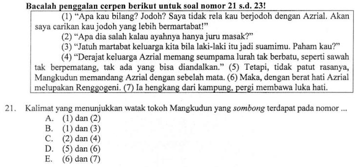 Menentukan Kalimat Yang Menunjukkan Watak Tokoh Cerita Zuhri Indonesia