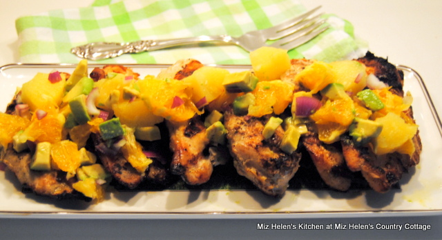 Grilled Orange Chili Chicken With Salsa at Miz Helen's Country Cottage