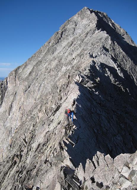 the Knife Edge of Capitol Peak in Colorado