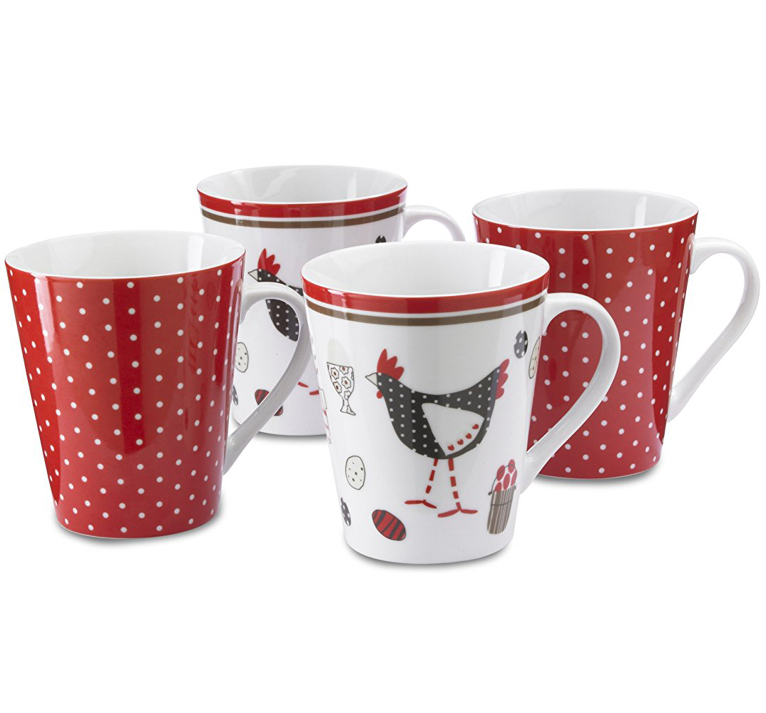 Cooksmart Chicken China Mugs (Set of 4)