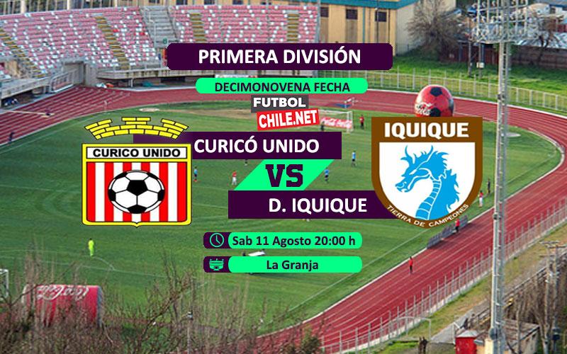 Mira Curicó Unido vs Deportes Iquique en vivo y online por la Primera División de Chile