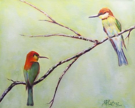 Chestnut Headed Bee Eater Birds- original sold