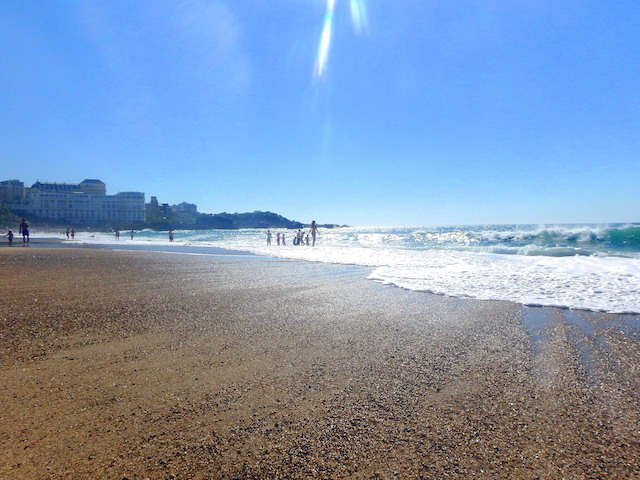 View of the ocean in Biarritz