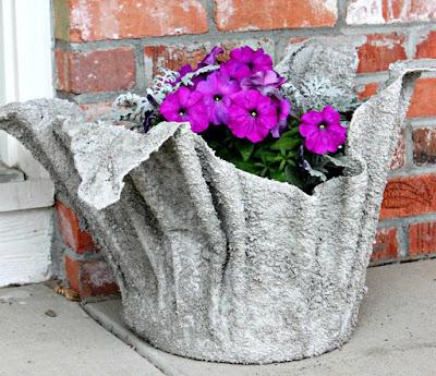 Vaso di tessuto e cemento tutorial