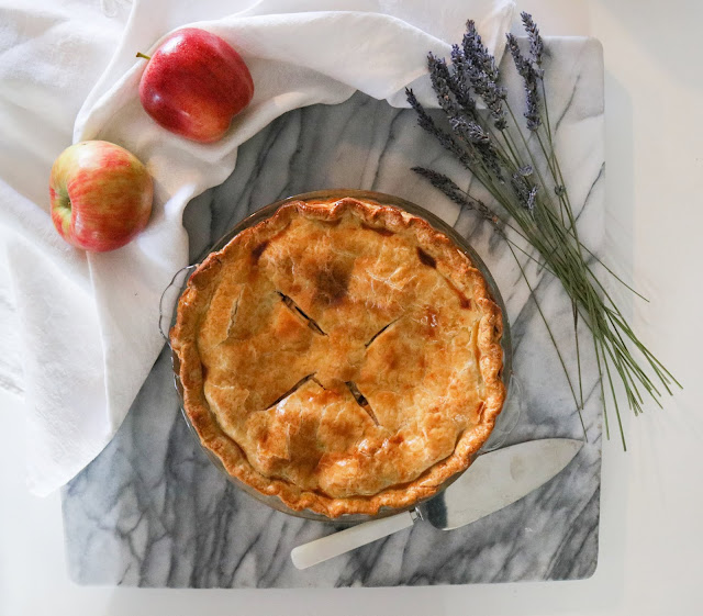 Lavender Apple Pie made with Organic Culinary Lavender from Pelindaba Lavender Farm