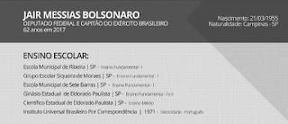 Formação Escolar de Jair Bolsonaro