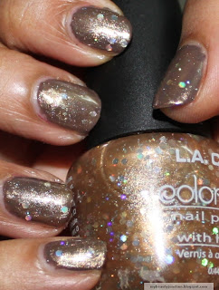 LA Colors Goddess polish Swatch and review