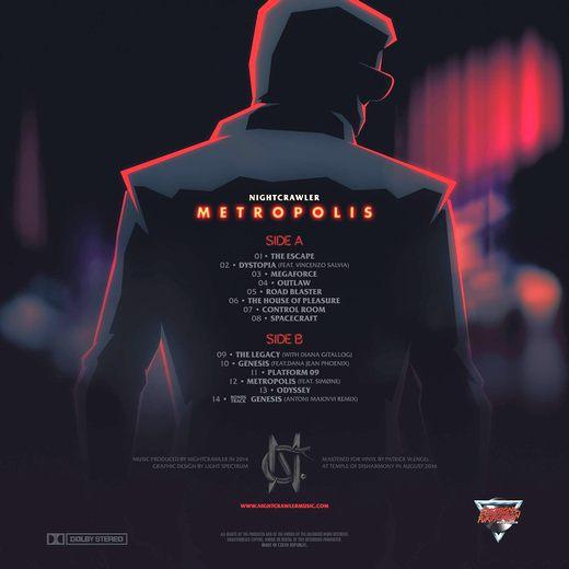 NIGHTCRAWLER - Metropolis [vinyl LP edition] (2017) lp back