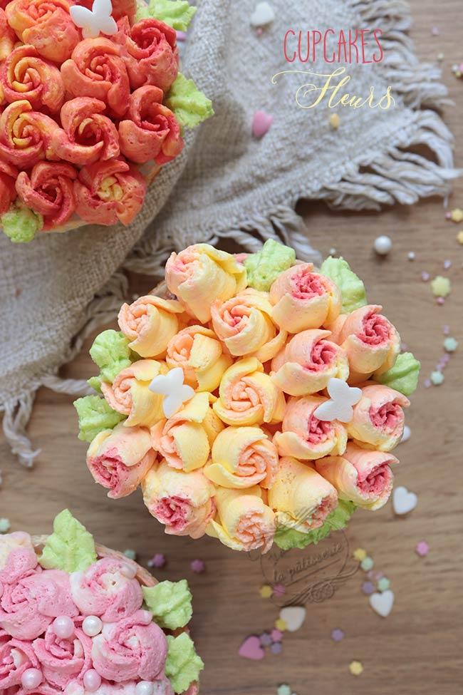 tuto cupcake fleur crème au beurre
