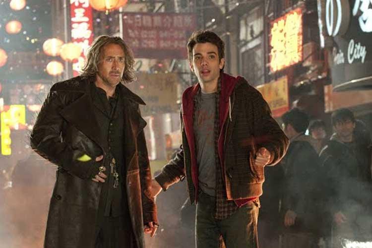 Nicolas Cage mentors Jay Baruchel in The Sorcerer's Apprentice.
