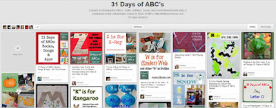 31 days of Abcs pinterest board