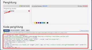 widget untuk melihat jumlah visitor blog
