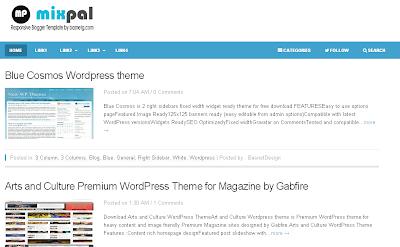 Mixpal - Plantilla Responsive Blogger