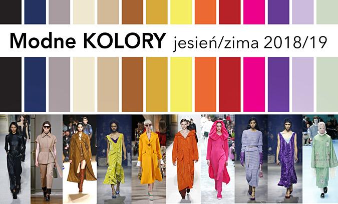 modne kolory w sezonie jesień zima 2018 2019