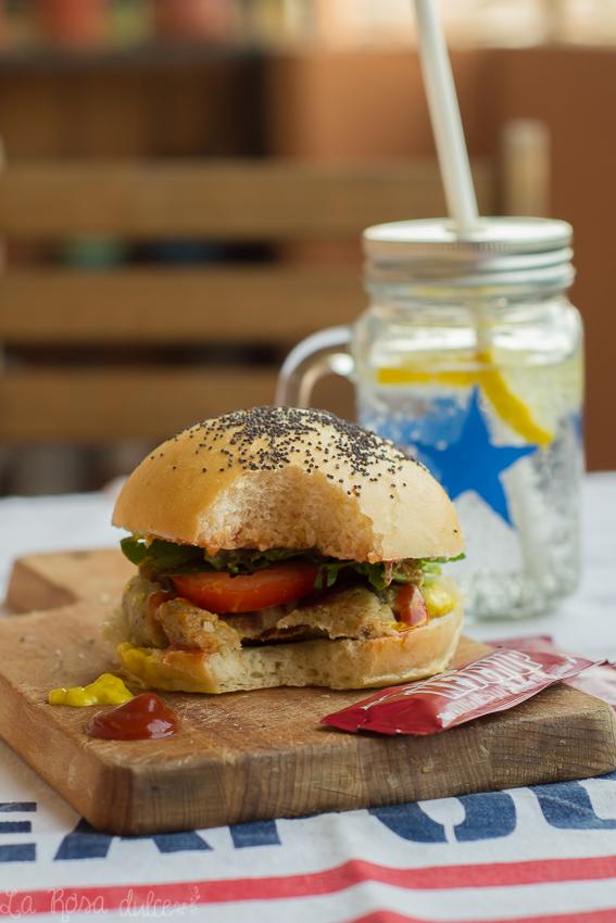 Hamburguesas de berenjena #vegetariana #sinlactosa
