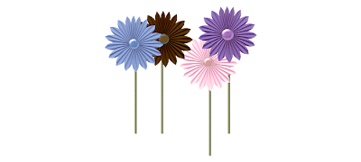 stemmed flowers middle