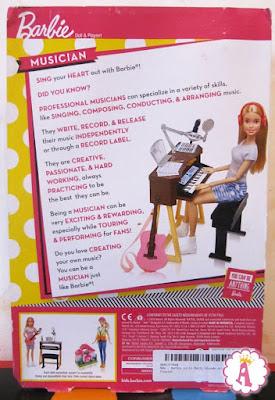 Что написано сзади на коробке с куклой барби и студией звукозаписи