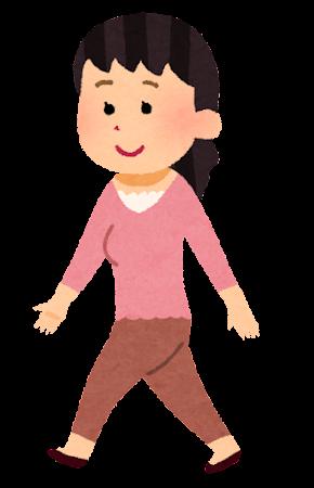 歩く女性のイラスト