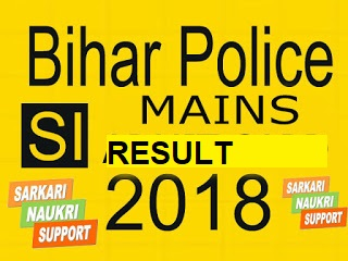 BIHAR POLICE SI MAINS RESULT,PET Admit Card 2018
